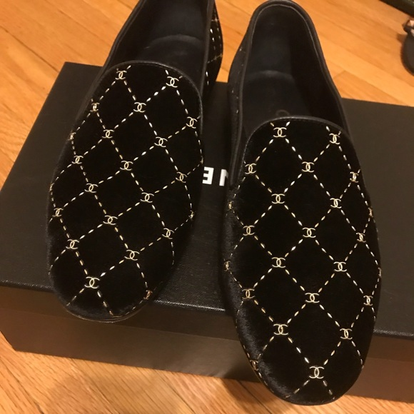 ce6ea54efb08 CHANEL Shoes - Authentic Chanel Velvet Mocassins Loafers